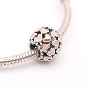 PANDORA Silver & 14K Gold Abundance of Love Charm